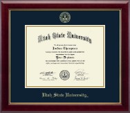 Utah State University Diploma Frame - Gold Embossed Diploma Frame in Gallery