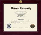 Widener University School of Law Diploma Frame - Century Gold Engraved Diploma Frame in Cordova