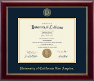 University of California Los Angeles Diploma Frame - Gold Embossed Diploma Frame in Gallery