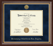 University of California Los Angeles Diploma Frame - Gold Engraved Medallion Diploma Frame in Hampshire