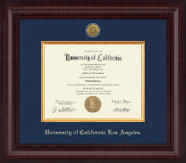 University of California Los Angeles Diploma Frame - Presidential Gold Engraved Diploma Frame in Premier