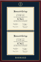 Barnard College Diploma Frame - Double Diploma Frame in Galleria