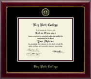 Bay Path College Diploma Frame - Gold Embossed Diploma Frame in Gallery