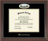 Wabash College Diploma Frame - Campus Cameo Diploma Frame in Chateau