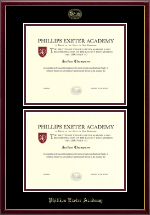 Phillips Exeter Academy Diploma Frame - Double Diploma Frame in Galleria