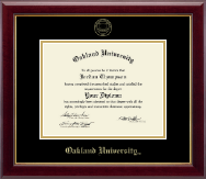 Oakland University Diploma Frame - Gold Embossed Diploma Frame in Gallery