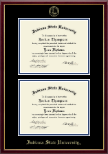 Indiana State University Diploma Frame - Double Diploma Frame in Galleria