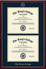 The King's College in New York City Diploma Frame - Double Diploma Frame in Galleria