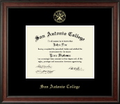 San Antonio College Diploma Frame - Gold Embossed Diploma Frame in Studio