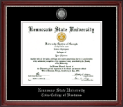 Kennesaw State University Diploma Frame - Pewter Masterpiece Medallion Diploma Frame in Kensington Silver