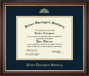 Palmer Theological Seminary Diploma Frame - Gold Embossed Diploma Frame in Regency Gold