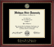 Michigan State University Diploma Frame - Masterpiece Medallion Diploma Frame in Kensington Gold