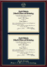 South Dakota School of Mines and Technology Diploma Frame - Double Diploma Frame in Galleria