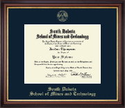 South Dakota School of Mines and Technology Diploma Frame - Gold Embossed Edition in Regency Gold