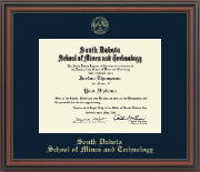 South Dakota School of Mines and Technology Diploma Frame - Gold Embossed Edition in Regency