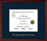 Saint Louis Community College  Florissant Valley Diploma Frame - Gold Embossed Diploma Frame in Camby