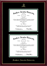 Southern Adventist University Diploma Frame - Double Diploma Frame in Galleria