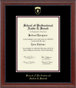 School of Professional Audio and Sound Diploma Frame - Gold Embossed Diploma Frame in Signature