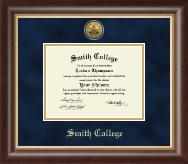 Smith College Diploma Frame - Gold Engraved Medallion Diploma Frame in Hampshire