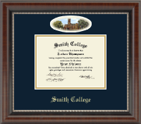 Smith College Diploma Frame - Campus Cameo Diploma Frame in Chateau