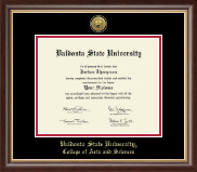 Valdosta State University Diploma Frame - Gold Engraved Medallion Diploma Frame in Hampshire