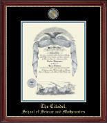 The Citadel The Military College of South Carolina Diploma Frame - Masterpiece Medallion Diploma Frame in Kensington Gold