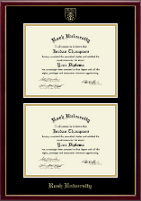 Rush University Diploma Frame - Double Diploma Frame in Galleria