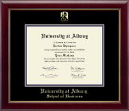 University at Albany State University of New York Diploma Frame - Gold Embossed Diploma Frame in Gallery