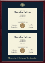 University of California Los Angeles Diploma Frame - Double Diploma Frame in Galleria