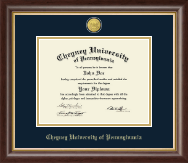 Cheyney University Diploma Frame - 23K Medallion Diploma Frame in Hampshire