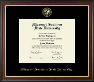 Missouri Southern State University Diploma Frame - Gold Embossed Diploma Frame in Studio Gold