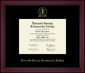 Laramie County Community College Diploma Frame - Gold Embossed Achievement Edition Diploma Frame in Academy