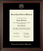 University of Central Missouri Diploma Frame - Embossed Diploma Frame in Studio