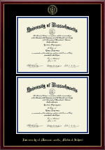 University of Massachusetts Medical School Diploma Frame - Double Diploma Frame in Galleria