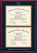 University of Texas at Brownsville Diploma Frame - Double Diploma Frame in Galleria