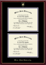 Weber State University Diploma Frame - Double Diploma Frame in Galleria