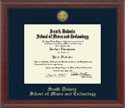 South Dakota School of Mines and Technology Diploma Frame - Gold Engraved Medallion Diploma Frame in Signature