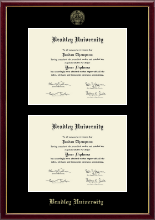 Bradley University Diploma Frame - Double Diploma Frame in Galleria