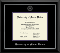 University of Mount Union Diploma Frame - Silver Embossed Diploma Frame in Onyx Silver