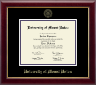 University of Mount Union Diploma Frame - Gold Embossed Diploma Frame in Gallery