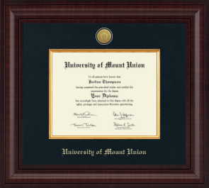 university of mount union diploma frames church hill classics university of mount union diploma frame presidential silver engraved diploma frame in premier