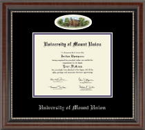 University of Mount Union Diploma Frame - Campus Cameo Diploma Frame in Chateau