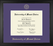 University of Mount Union Diploma Frame - Gold Embossed Diploma Frame in Arena