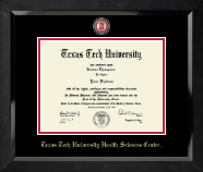 Texas Tech University Health Sciences Center Diploma Frame - Masterpiece Medallion Diploma Frame in Eclipse