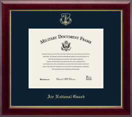 Air National Guard Certificate Frame - Gold Embossed Air National Guard Certificate Frame - 8x10 in Gallery