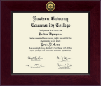 Eastern Gateway Community College Diploma Frame - Century Gold Engraved Diploma Frame in Cordova