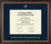 Northeast State Community College Diploma Frame - Gold Embossed Diploma Frame in Studio Gold