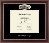 Meredith College Diploma Frame - Campus Cameo Diploma Frame in Chateau