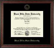 Black Hills State University Diploma Frame - Gold Embossed Diploma Frame in Studio