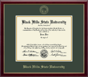 Black Hills State University Diploma Frame - Gold Embossed Diploma Frame in Galleria